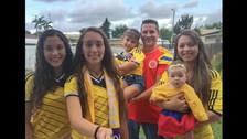 No faltó la familia colombiana en las tribunas.
