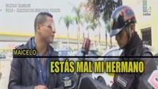 Jonathan Maicelo fue detenido por la policía al manejar moto sin casco