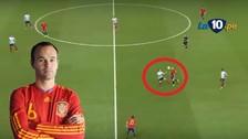 España vs. Turquía: la espectacular jugada de Andrés Iniesta en la Eurocopa