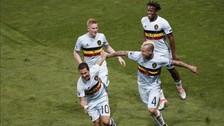 Bélgica venció 4-0 Hungría y pasó a cuartos de final de la Eurocopa