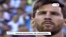 Argentina vs. Chile: Lionel Messi se emocionó con el himno argentino