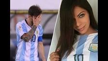 Messi: Miss Bum Bum llegó a Argentina y le dio su apoyo a 'La Pulga'