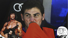 Iker Casillas se despidió de la Eurocopa con un video de Rambo II