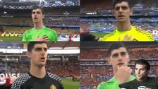 Thibaut Courtois es sensación en las redes por extraños gestos en la Eurocopa