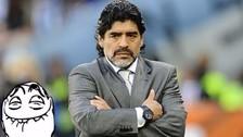 Hinchas chilenos le respondieron a Maradona con un polémico meme