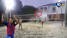 Ronaldinho y la fantástica jugada en el futvoley que se convirtió en viral