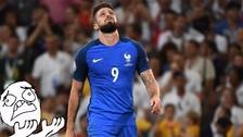 Alemania vs. Francia: el increíble gol que se perdió Olivier Giroud