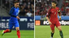 Los números de Cristiano Ronaldo y Antoine Griezmann en la Eurocopa