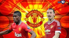 Manchester United: Paul Pogba, Zlatan Ibrahimovic y el posible once