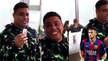 Ronaldo volvió a retar a Neymar con acertada puntería a lanzar su té