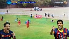 Jugadores de Alianza Atlético tuvieron blooper al querer hacer el penal de Messi y Suárez