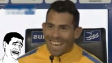Carlos Tévez bromeó con su salida de Boca Juniors y asustó a los periodistas