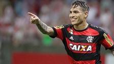 Paolo Guerrero anotó en la victoria del Flamengo 2-1 ante América Mineirao