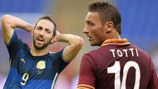 Francesco Totti criticó a Gonzalo Higuaín por su pase a la Juventus