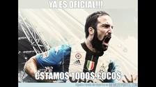 Gonzalo Higuaín: sus nuevos memes causan furor tras fichaje a Juventus