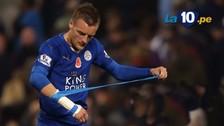 Leicester: Jamie Vardy juega con un vendaje en su muñeca porque tiene una fractura