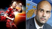 Descubre los mensajes de amor-odio que se cruzan Guardiola y Ribéry