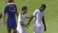 Werder Bremen: Claudio Pizarro anotó un gol ante Chelsea en un partido amistoso