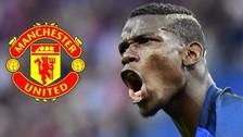 Paul Pogba llegó a Inglaterra para firmar por el Manchester United