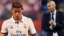 Zinedine Zidane aseguró que James Rodríguez no se irá del Real Madrid