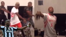 Paul Pogba hizo un curioso baile junto a sus hermanos