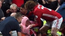 Manchester United: Fellaini evitó tragedia durante la celebración de un gol