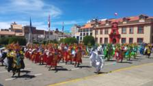 Al ritmo de la diablada la Policía veneró a Santa Rosa de Lima