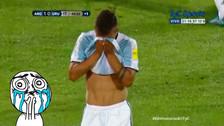 Argentina vs. Uruguay: Paulo Dybala salió llorando del campo tras expulsión