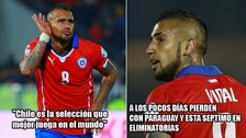Chile es víctima de los memes tras la derrota ante Paraguay