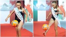 Video: Miss Italia 2016 Debora Novellino mostró su talento para dominar balón