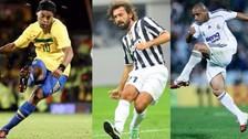 El 11 ideal de los mejores ejecutores de tiros libres en la historia del fútbol