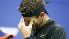 Del Potro rompió en llanto en pleno partido tras ovación en el US Open