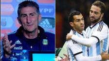 Perú vs. Argentina: Bauza no descarta a Higuaín y Tévez para Eliminatorias
