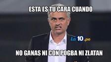 Mourinho es víctima de los memes por derrota de Manchester United