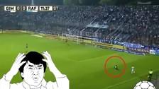 Video. Christian Ramos sufrió un resbalón y su equipo sufrió un gol