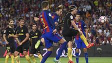 Ivan Rakitic marcó el primer gol del Barcelona ante el Atlético de Madrid