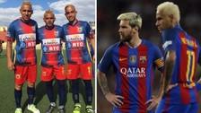 Futbolistas de Copa Perú imitan el look de Messi y Neymar