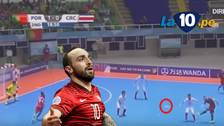 Ricardinho anotó dos golazos en el triunfo de Portugal en el Mundial de Futsal