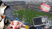 Fotos. Objetos extraños que hinchas lanzaron a un campo de fútbol