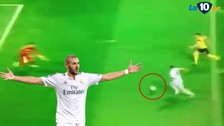 El blooper de Benzema tras gran pase de Cristiano Ronaldo