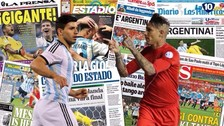 La reacción de la prensa argentina tras el empate con Perú