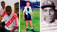 10 futbolistas cuando recién iniciaban su carrera en el fútbol juvenil