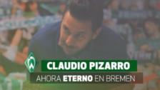 Claudio Pizarro ingresó al salón de la fama de Werder Bremen