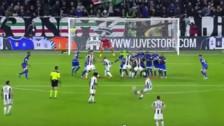 El golazo de tiro libre de Dybala en el triunfo de Juventus