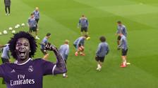Marcelo volvió a demostrar su habilidad y le hizo una huacha al hijo de Zidane