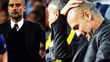 La reacción de Pep Guardiola tras el golazo de Messi ante Manchester City