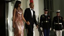 Los Obama deslumbran en su última cena de gala en la Casa Blanca