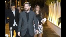Antonella Roccuzzo acompañó a Lionel Messi en la cena de la Bota de Oro