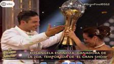 Rosángela Espinoza gana la final de El Gran Show