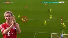 Philipp Lahm anotó un golazo con huacha incluida en la Copa de Alemania